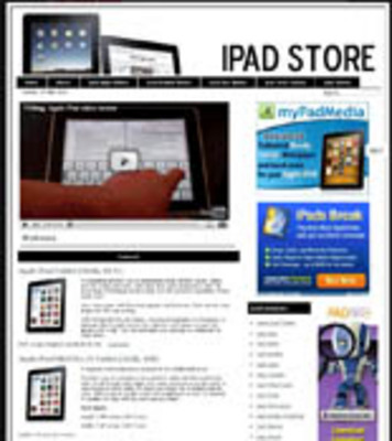 Product picture Ipad Pre-Loaded Website