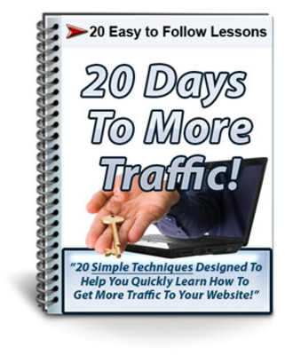 Product picture 20 Days To More Traffic Course