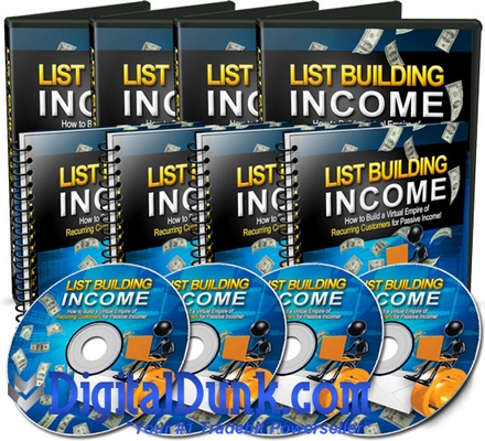 Product picture List Building Income - Videos and Audios